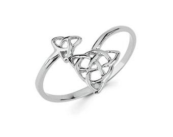14k solid gold Irish love knot, gold knot, irish jewelry, Irish ring, gold irish ring, dainty jewelry, Love knot