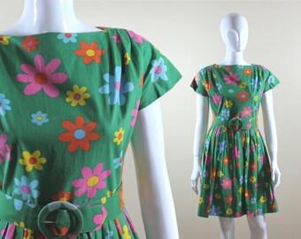 1960s flower power dress: In Bloom