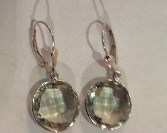 Green amethysts earrings