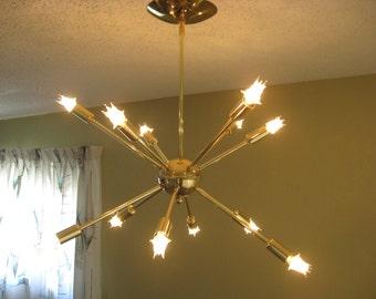 Atomic SPUTNIK 12 arm Ceiling Starburst Light 50s 60s Mid Century