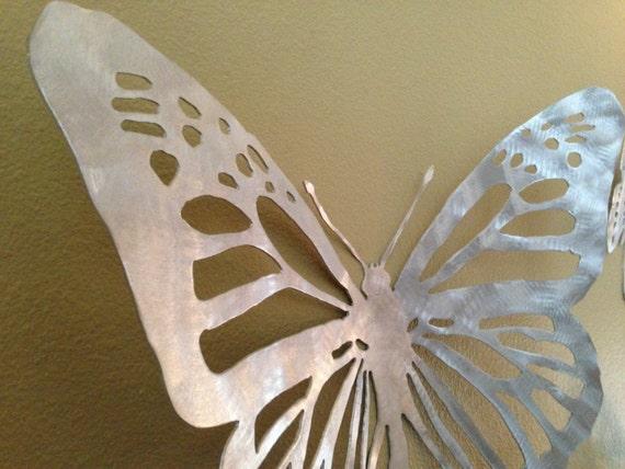 Three Dimensional Wall Art metal wall art butterflies three dimensional aluminum hand