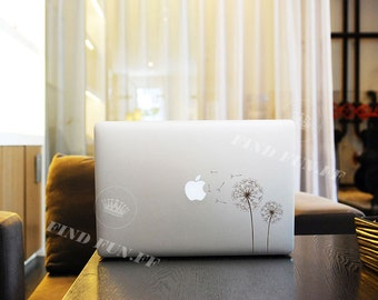 Dandelion Decal Macbook Air Sticker Macbook Air Decal Macbook Pro Decal 53753