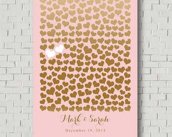 Weddings - Faux Gold Wedding Guest Book Alternative - Wedding Poster - Guest Book Print - Sweetheart Faux Gold Guest Book Wedding Sign In