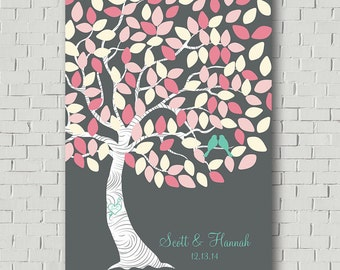 Wedding Tree Wedding Guest Book Alternative, Wedding Signs Guest Book Sign, Pink Wedding Gift for Bride Guest Book Tree, Bridal Shower Gift