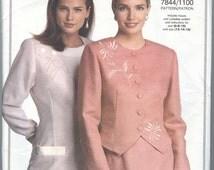 1990's Vogue Suit Pattern Jacket, Top, Skirt, Pants Vogue 7844 Dress Womens Sewing Pattern, uncut