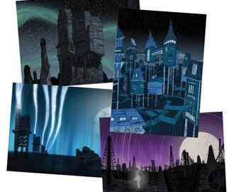 Postcard Pack - contains 2x4 postcard designs