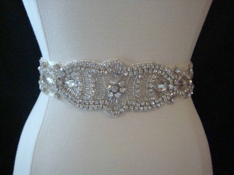Bridal Sash Wedding Dress Sash Belt Crystal Rhinestone