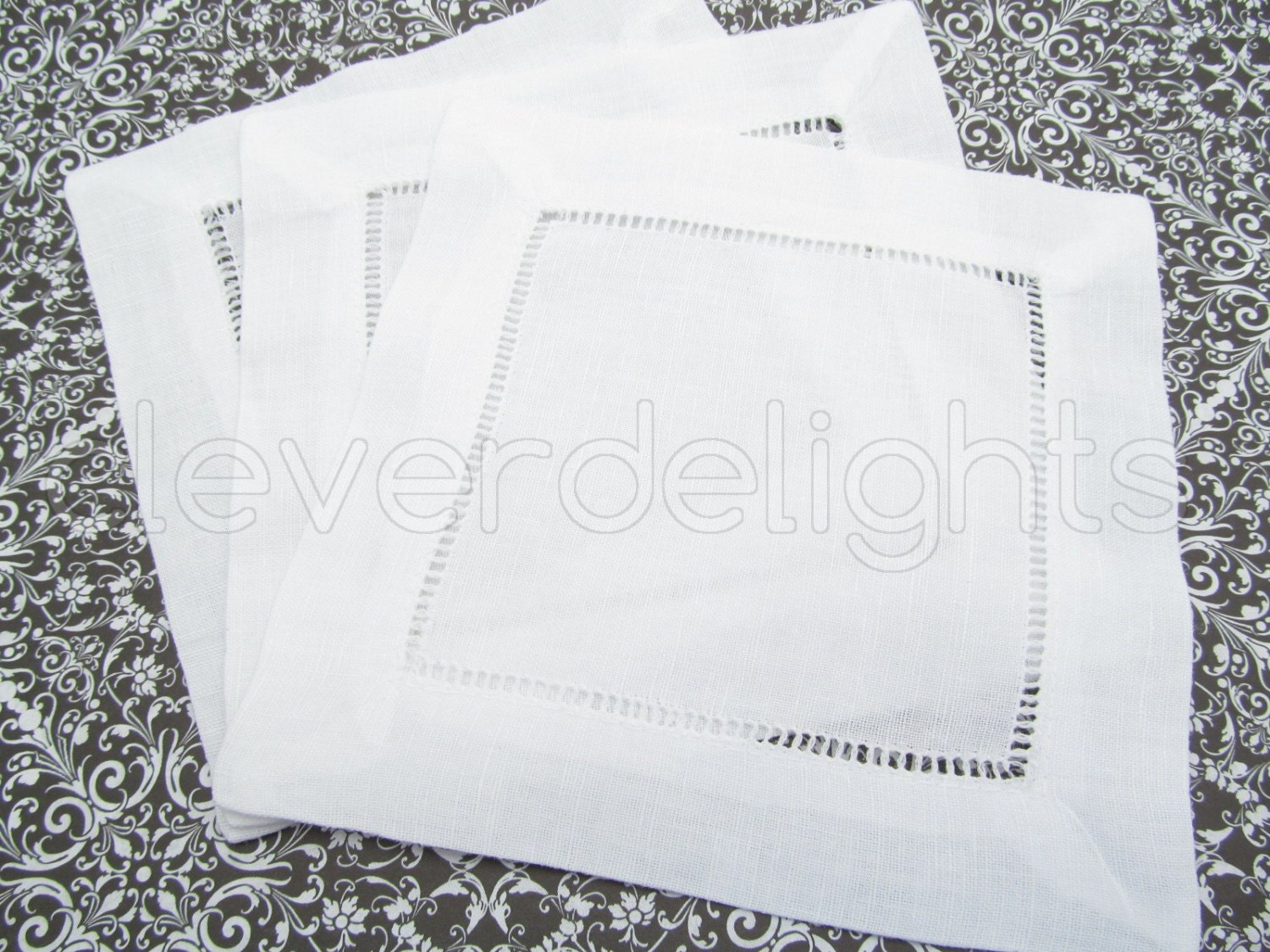 6 white linen cocktail napkins ladder by cleverdelights on for White linen cocktail recipe