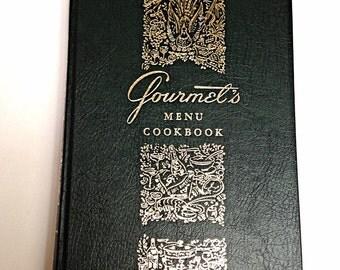 Gourmet's Menu Cookbook, Classic recipes, Cookbook collectors, Gift for Chef