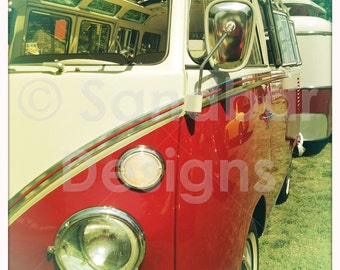 4 x 4 photo Lingonberry and Swedish Cream VW bus