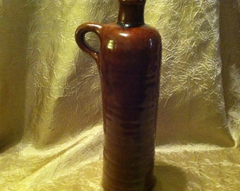 1970s Stoneware NEWBERRY Wine Bottle