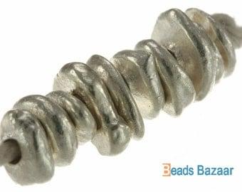 Irregular Chip Bead, 6 mm - Karen Hill tribe silver ( 50 mm )