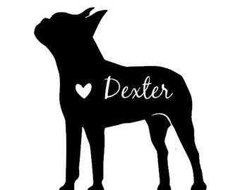 Personalized Boston Terrier Decal Love Boston Terriers
