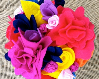 Bright, Bold, & Beautiful Felt Bouquet