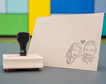 custom couple stamp wedding