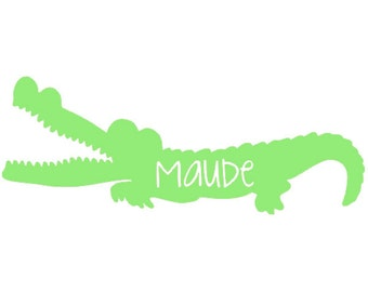 Gator Laptop, iPad, Car Vinyl Decal PERSONALIZED
