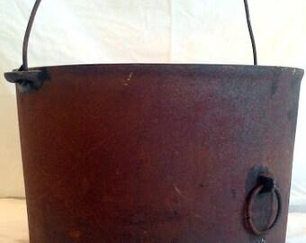 Vintage Kitchen - Antique Cast Iron Pot