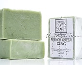 FRENCH GREEN CLAY organic, natural soap | handmade in Brooklyn, Ny | detoxifying | unscented | 6 oz.