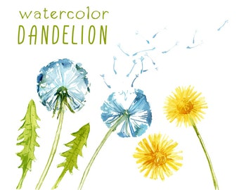 Dandelion clipart – Etsy