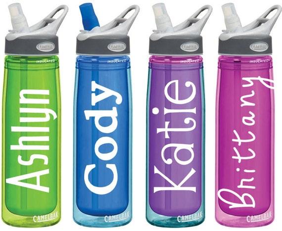Name decals for personalized water bottles or tumblers 2x4 for Create custom water bottles