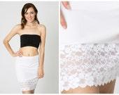 Basic White Lace Slip Dress Extender - All Sizes