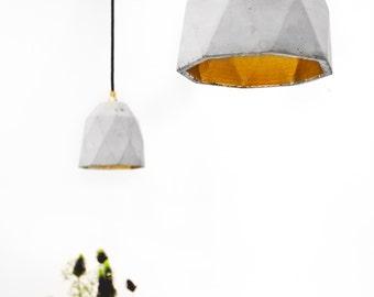 Concrete hanging lamp [T1] Lamp Gold failed rare designer lamp