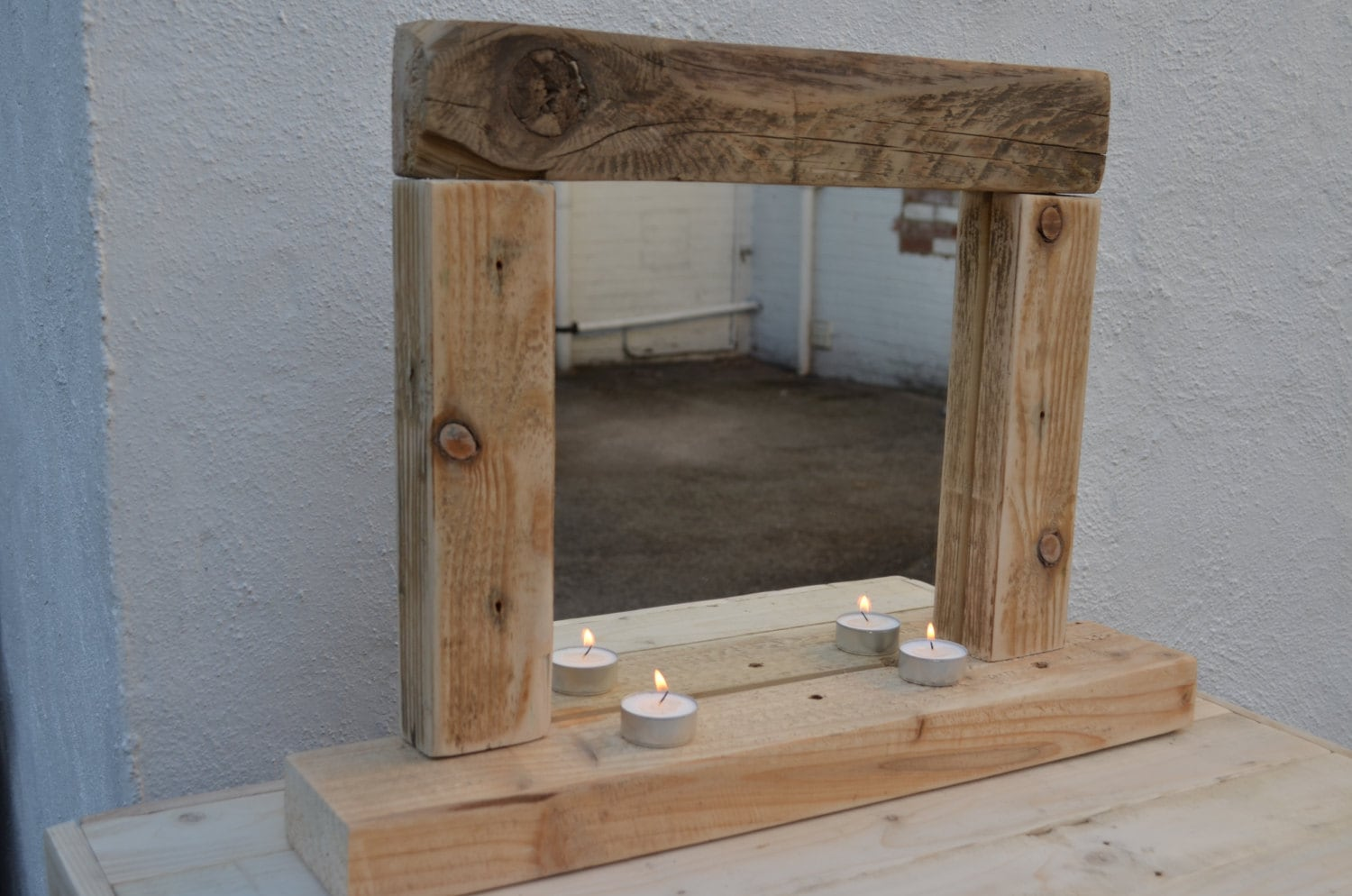 Unique shabby chic custom handcrafted dressing table mirror
