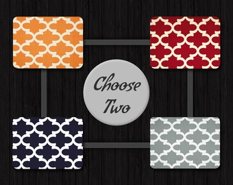Decorative Pillow Set (2) - Decorative Pillows for Couch - Decorative Sofa Pillows