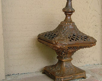 Victorian incense burner,  ornate... American made