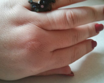 Handmade Indian Style Aged Metal Ring Size 6