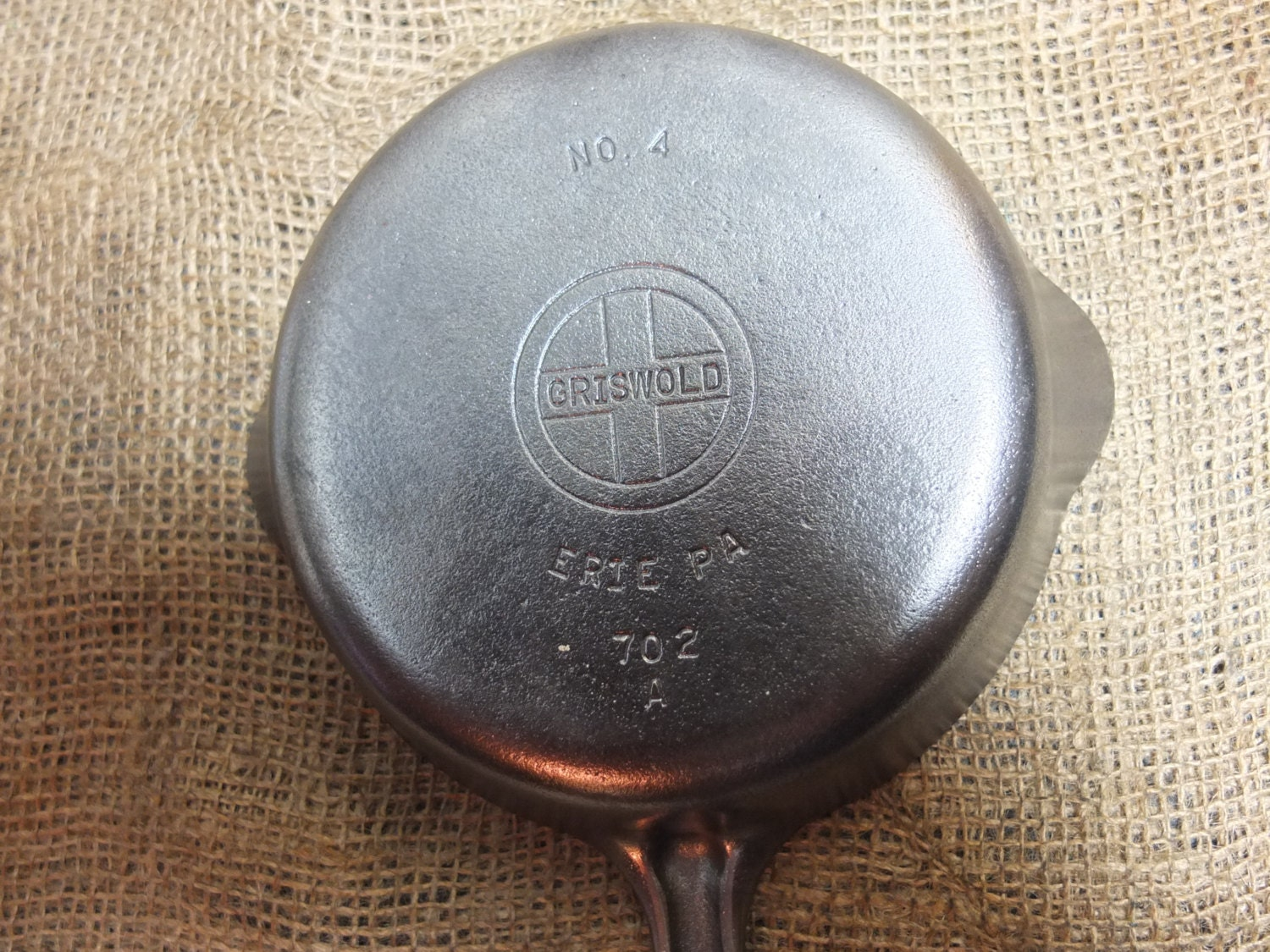 Griswold No 4 Cast Iron Skillet Smooth Bottom With Small Logo