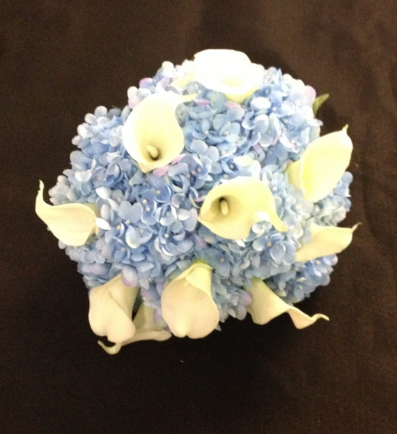 Bridal Bouquet With Calla Lilies And Hydrangeas : Calla lilies and hydrangeas colonial by somethingnewdesign u