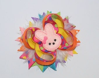 Easter Bow, Easter Bunny Bow