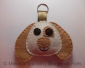 Keychain Felt Puppy Dog Felt Puppy Dog Keyring. Puppy Dog Ornament. Handmade Soft Felt Puppy Dog Backpack Charm