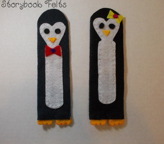 Felt Penguin Bookmark Boy Or Girl