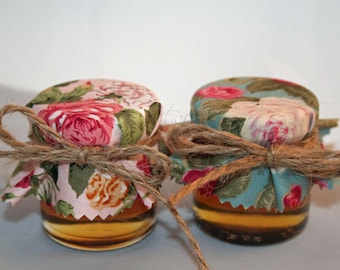 Romantic  Wedding- Honey wedding Favours -  Mini Jars Honey -Edible Favours -Tea roses