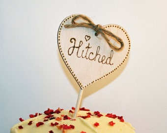 Rustic Cake Topper - Wooden Wedding Cake Topper