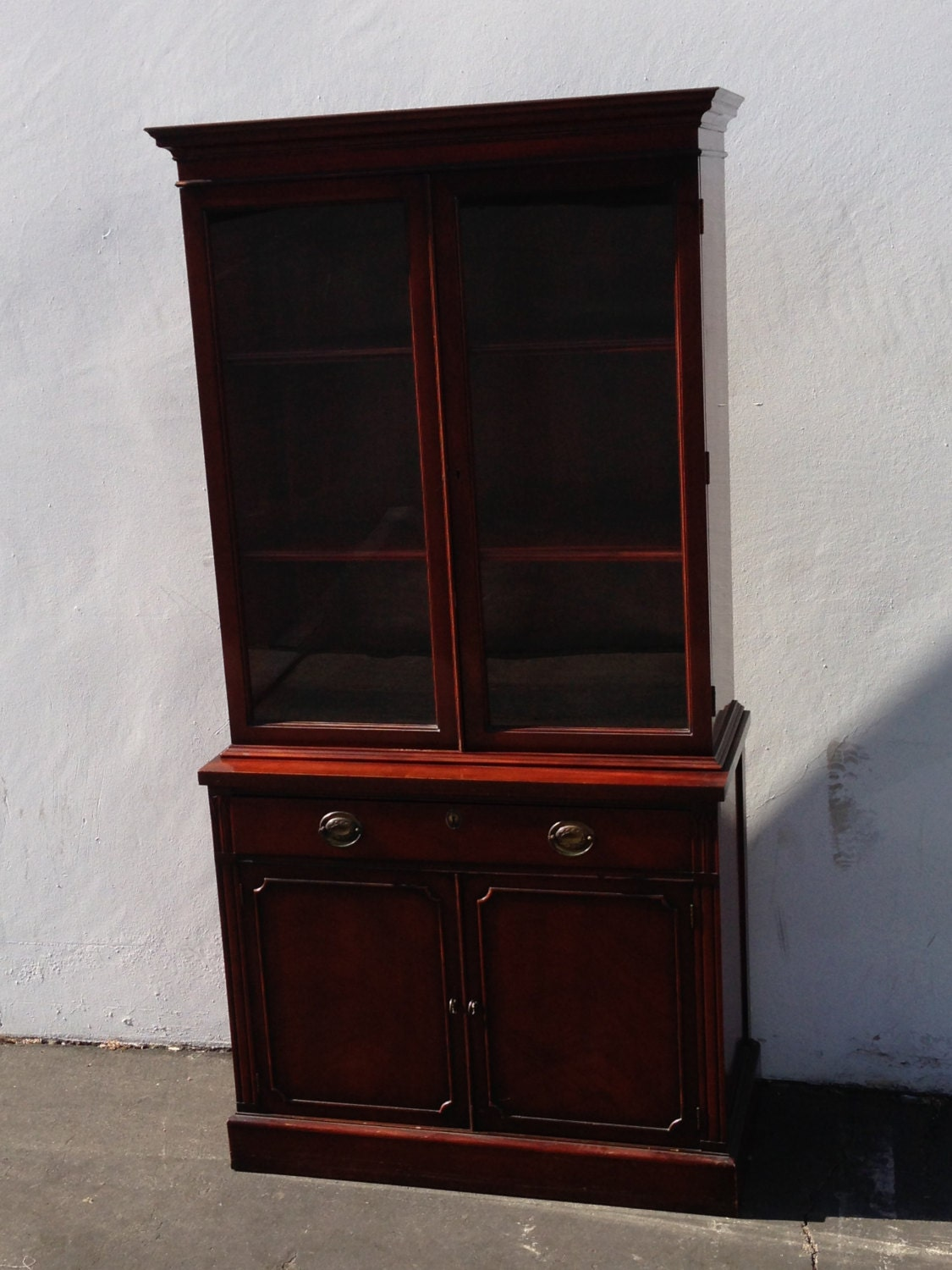 Gorgeous Vintage Drexel China Cabinet Hutch French Provincial