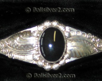 Sterling ,Silver,Bracelet, cuff,925 silver bracelet. Black Onyx Bracelet Reduced Price