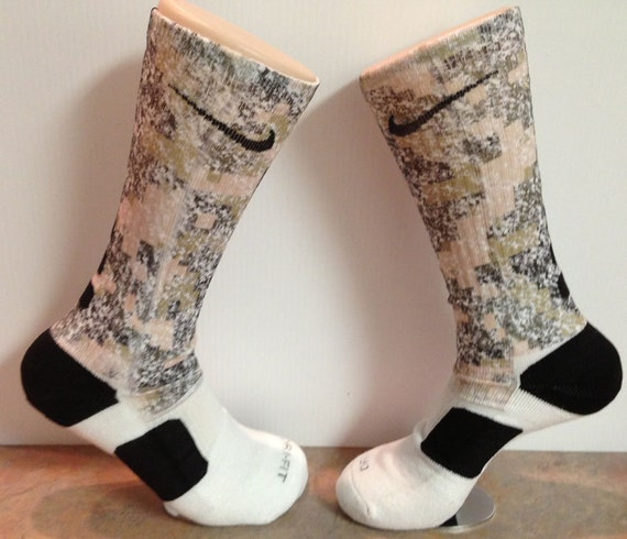 Nike Elite Socks Camo Digital Camo Custom Nike Elite