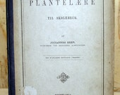 1879 Antique Book Plantel Are Til Skolebrug