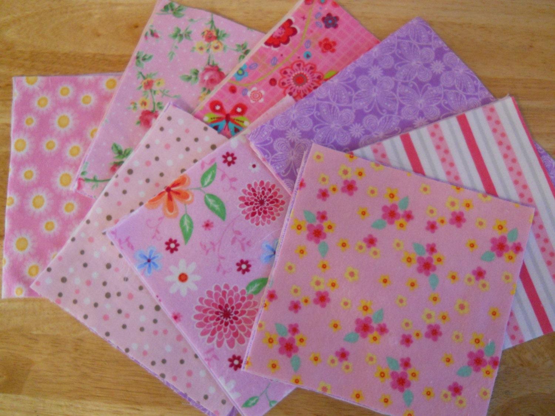 Baby Girl Rag Quilt Kit Pre Cut Quilt Squares Rag Quilt Lap
