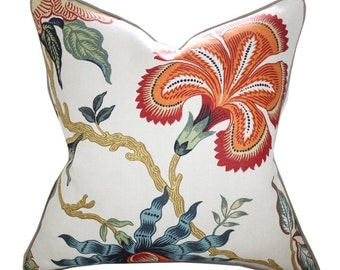 Schumacher Hot House Flowers Pillow Cover in Spark
