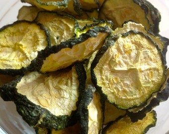 Organic Dried Zucchini Chips / Eight Flavors / Gluten Free / Vegan / No Sugar Added / Oil Free /