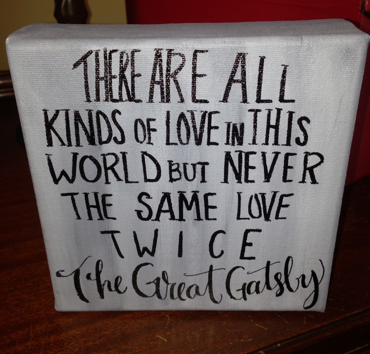The Great Gatsby: The Great Gatsby Quote On 6 X 6 Inch Canvas By InkandPenShop