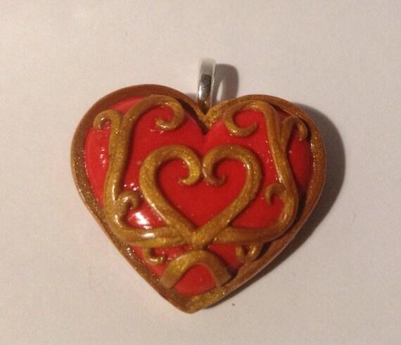 Zelda Heart Container Necklace: Legend Of Zelda Twilight Princess Heart Container Pendant