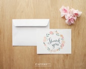 Floral Thank You Cards - suitable for any occasions (10cards/pk)