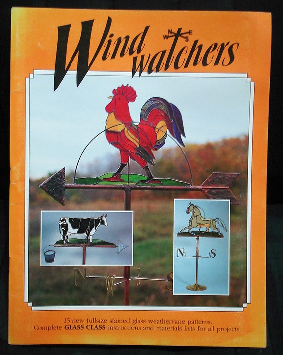 Stained Glass Weathervane Pattern Book Wind Watchers Horse
