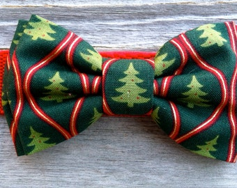 Dog Bow Tie- Christmas Tree