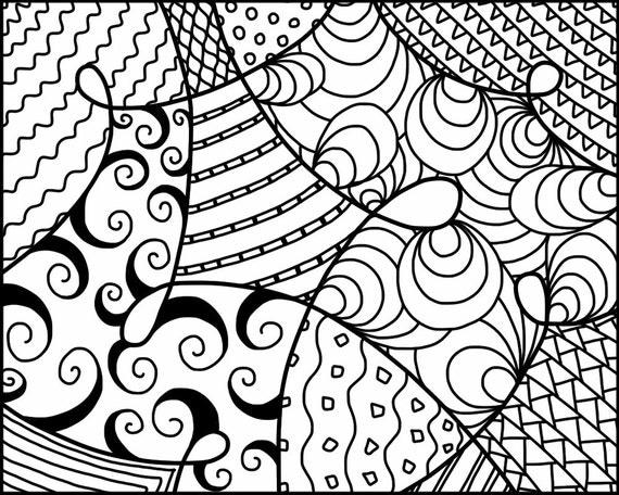 Line Art Zendoodle : Items similar to coloring page zendoodle line art
